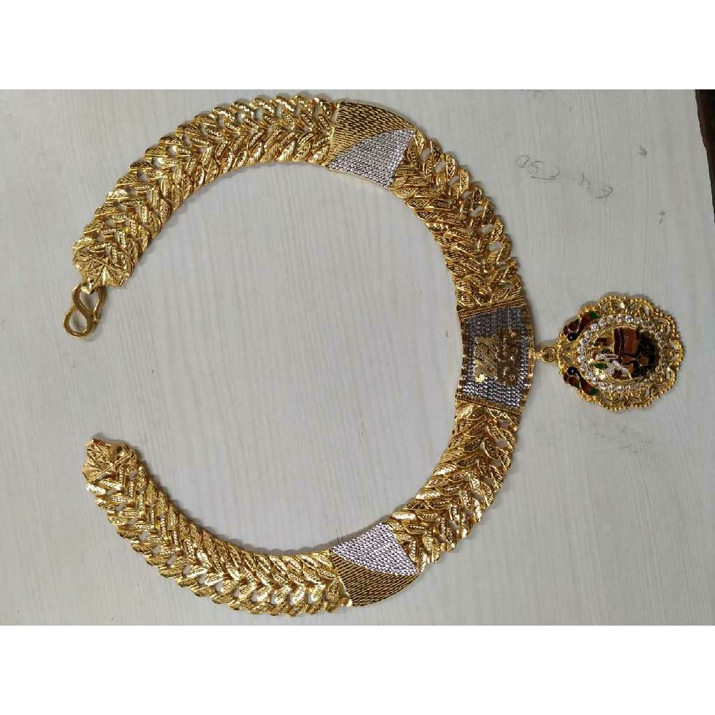 916 Gold Antique Bharvadi Chain