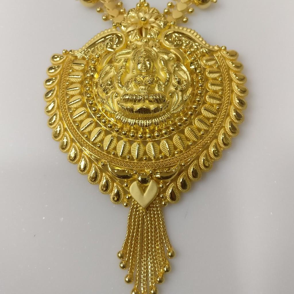 22kt gold handmade savithri haram with laxmi