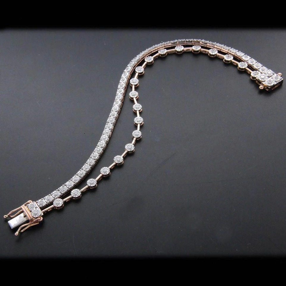 designer two line diamond bracelet