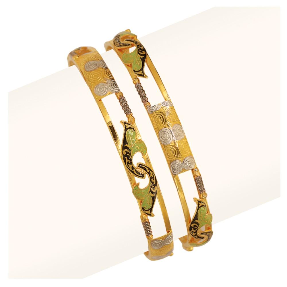 916 Gold Double Pipe Copper Kadli RJDP-061