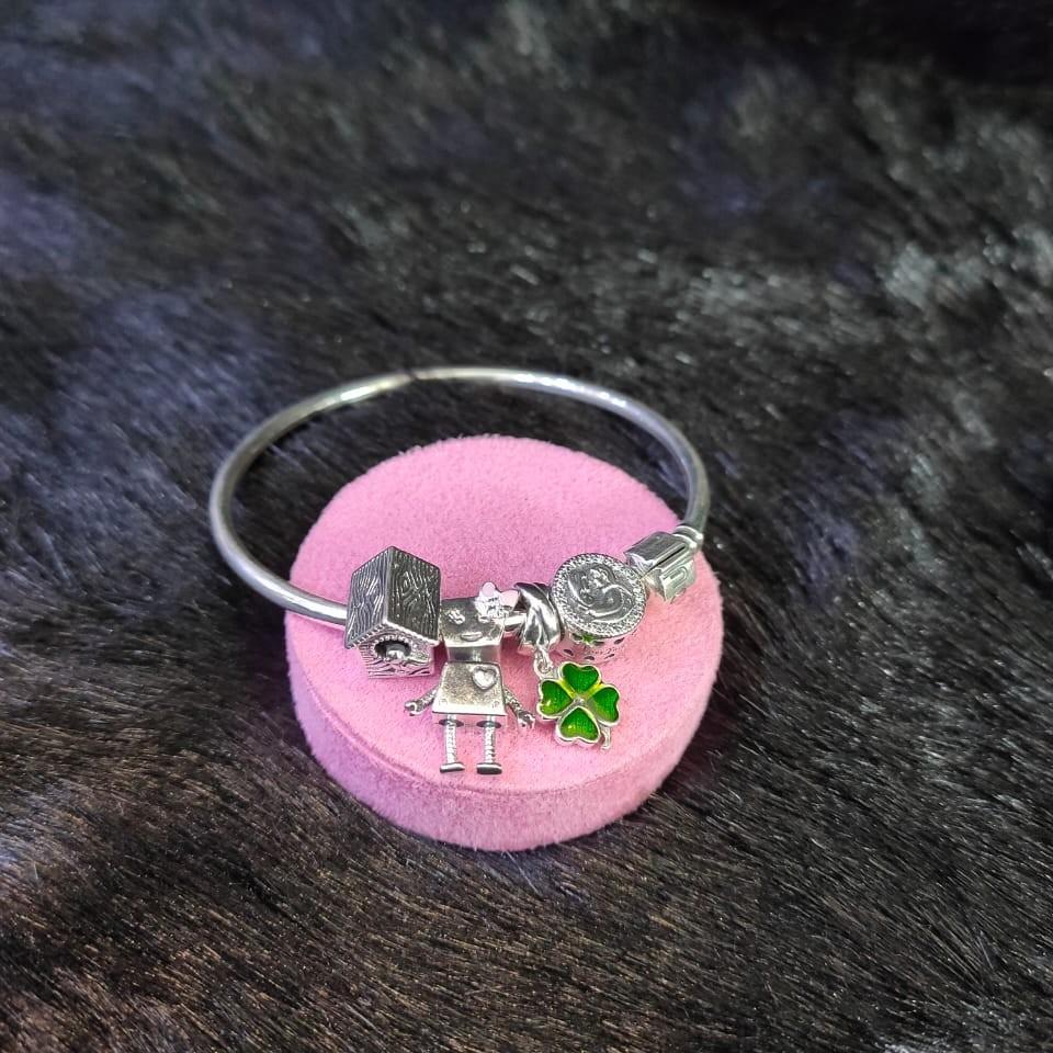 92.5 Sterling silver Lady Eristona Pandora Brecelet For Women