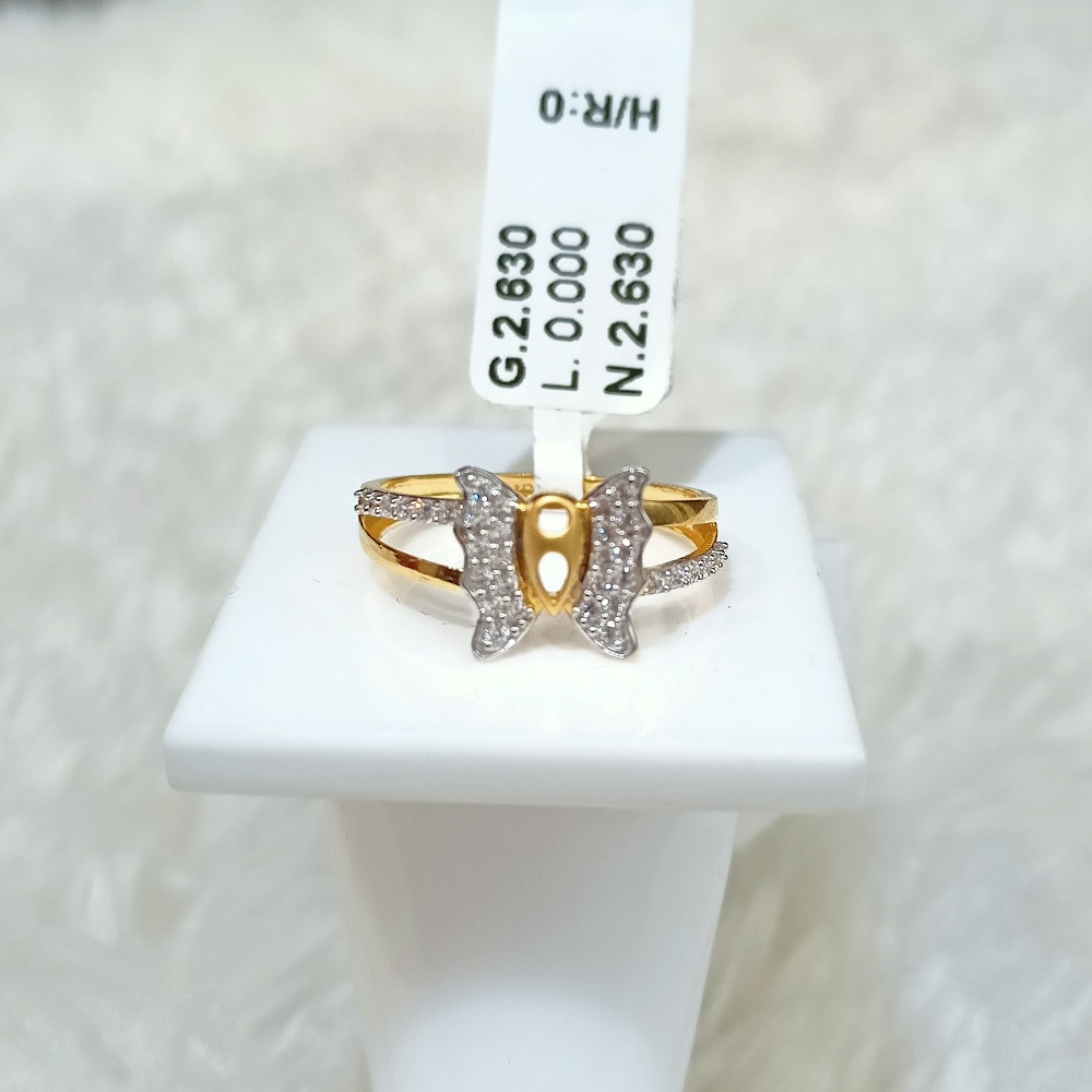 22 KT BUTTERFLY RING