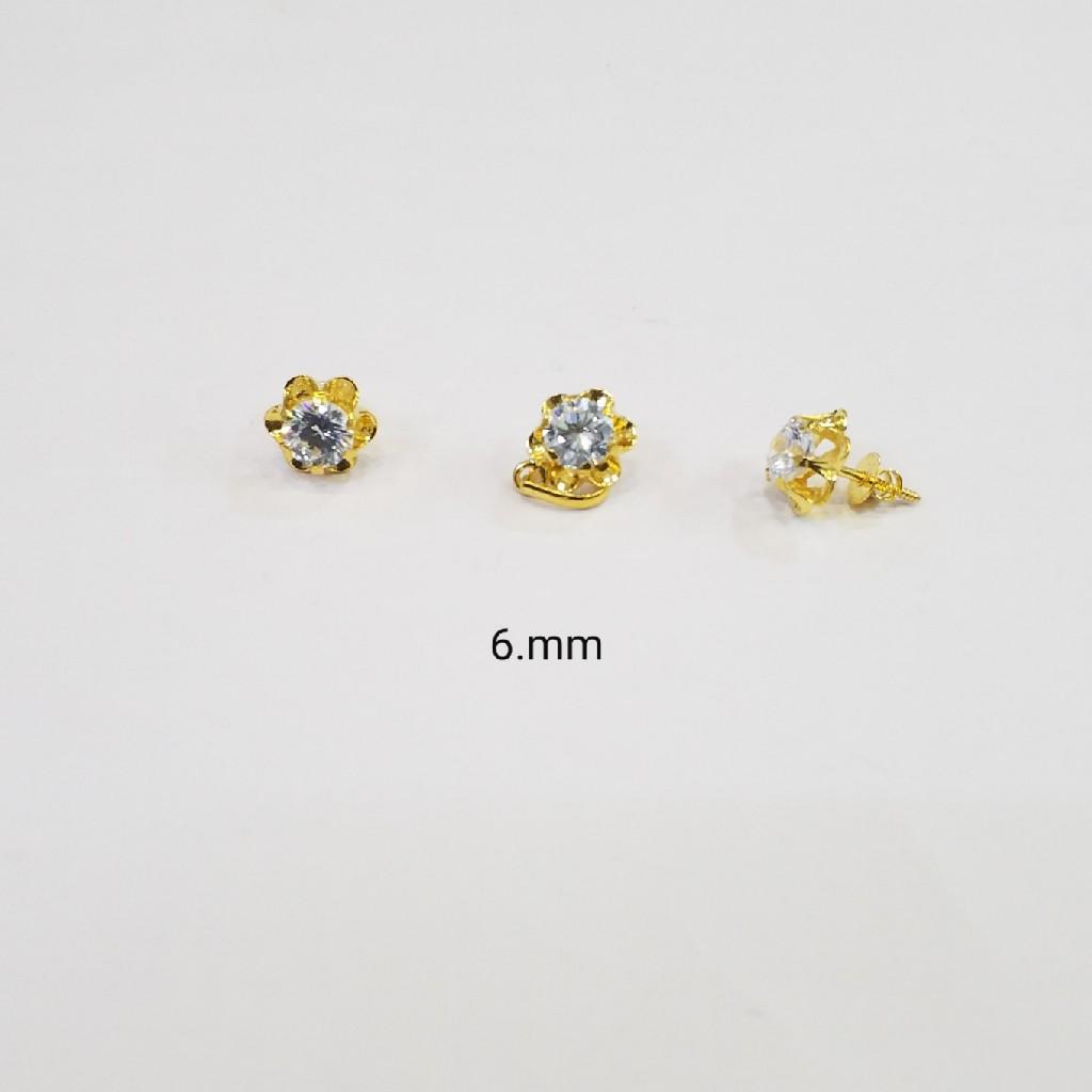 18kt gold c ston pendant Set GZ7685