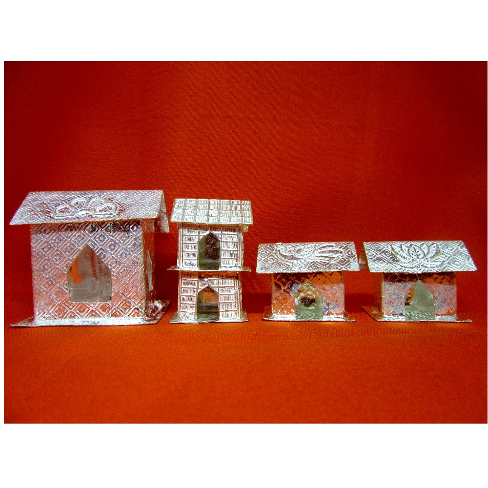 Silver home(house) for shastra pooja vidhi