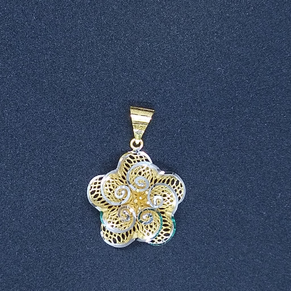 916 gold fancy pendant tj-039