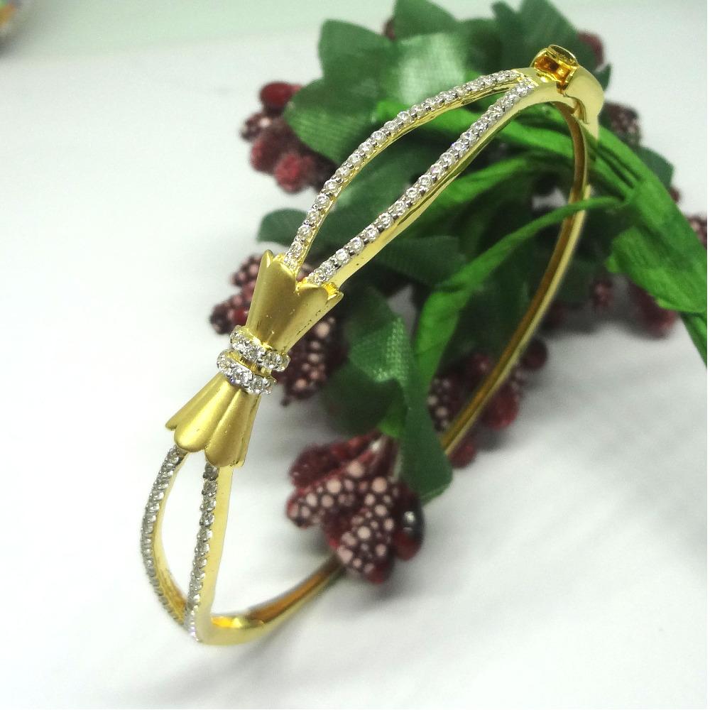 18kt gold cz diamond bracelet kada
