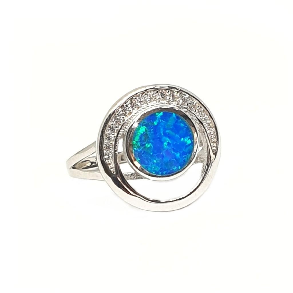 925 Sterling Silver Round Shape Designer Ring MGA - LRS3372