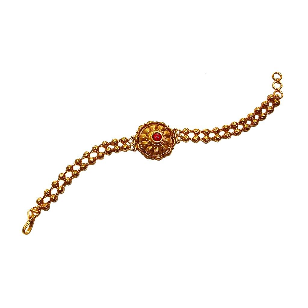 22K Gold Antique Designer Bracelet MGA - GB0007
