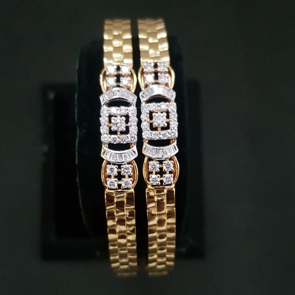 gold attractive diamond bangle kj-b02
