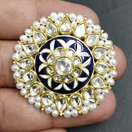 Antique Bikaneri Ring with Minakari