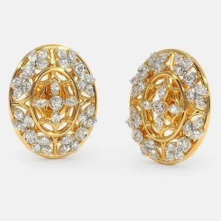 22 Kt 916 Gold Cz Diamond Earring