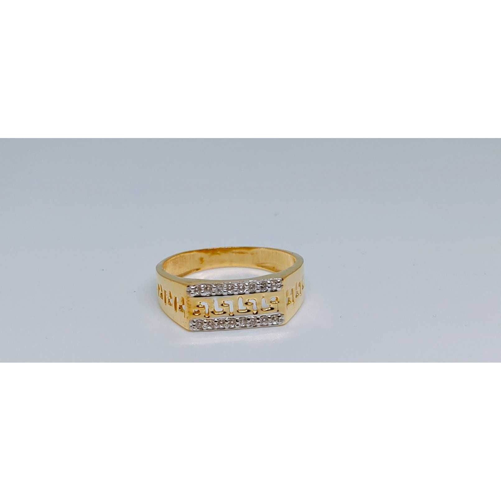 916 Gents Fancy Gold Ring Gr-28646
