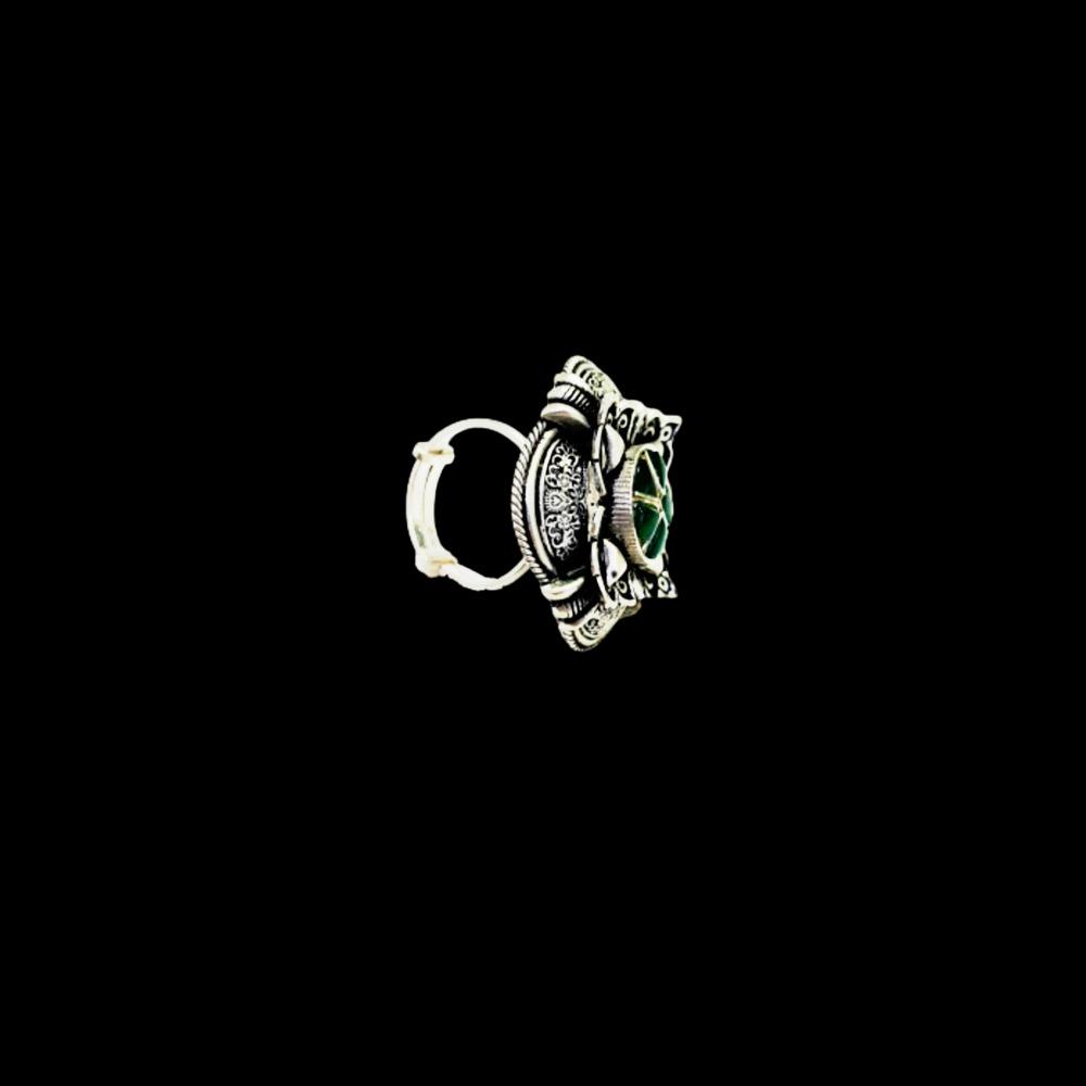 92.5 antique silver padmavati ring