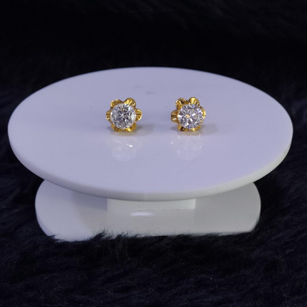 22KT/916 Yellow Gold Kekoa Stud Earrings For Women