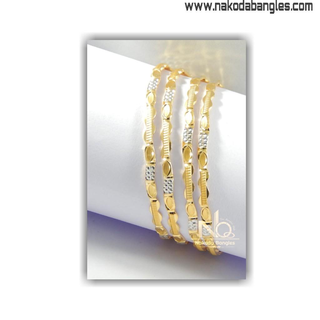 916 Gold CNC Bangles NB - 1400
