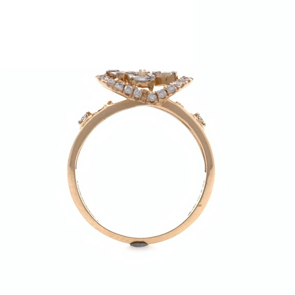 18kt / 750 Rose Gold Party Wear Diamond Ladies Ring 9LR254