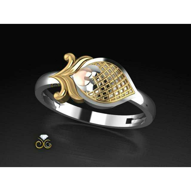 2(Two) Tone Silver Gold Ganga Jamna Toe Ring Bichiya(Vichiya) Ferva Ms-2487