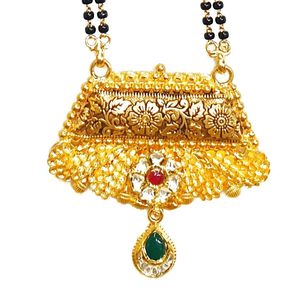 916 Gold Antique Oxidised Mangalsutra MGA - GM046