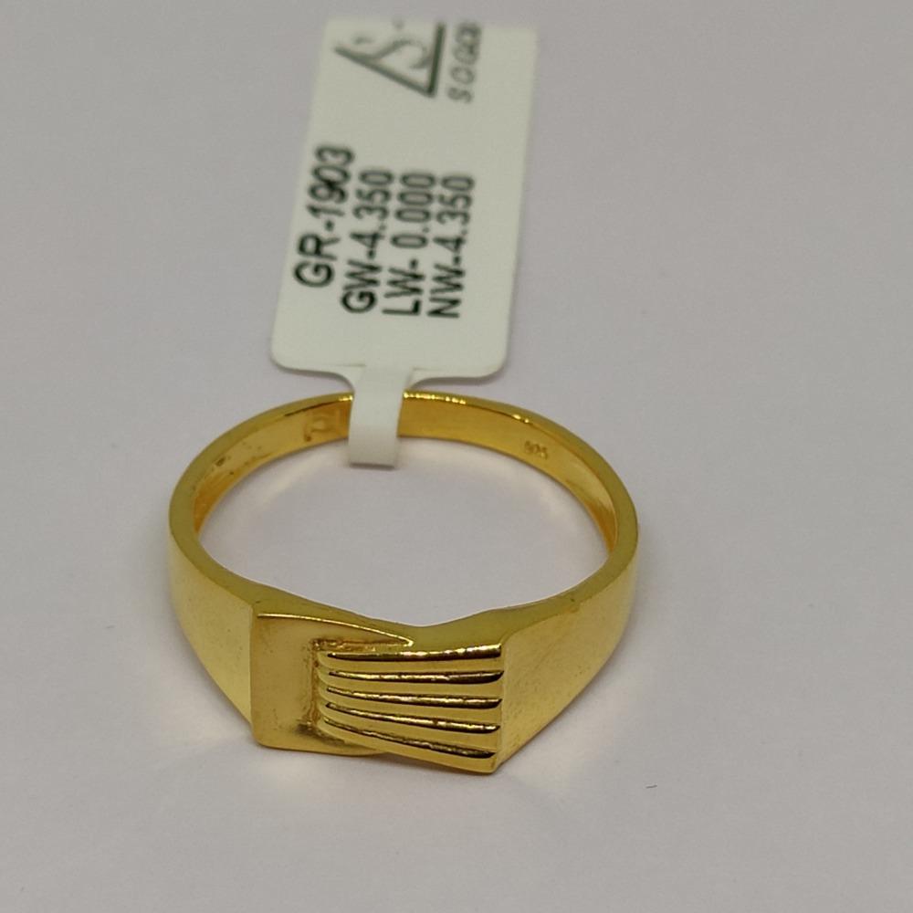916 Gold Ring For Men sOG-R94