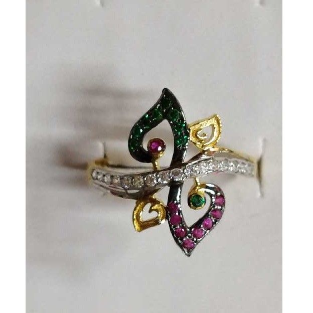 22KT Gold Studded Diamond Ladies Ring