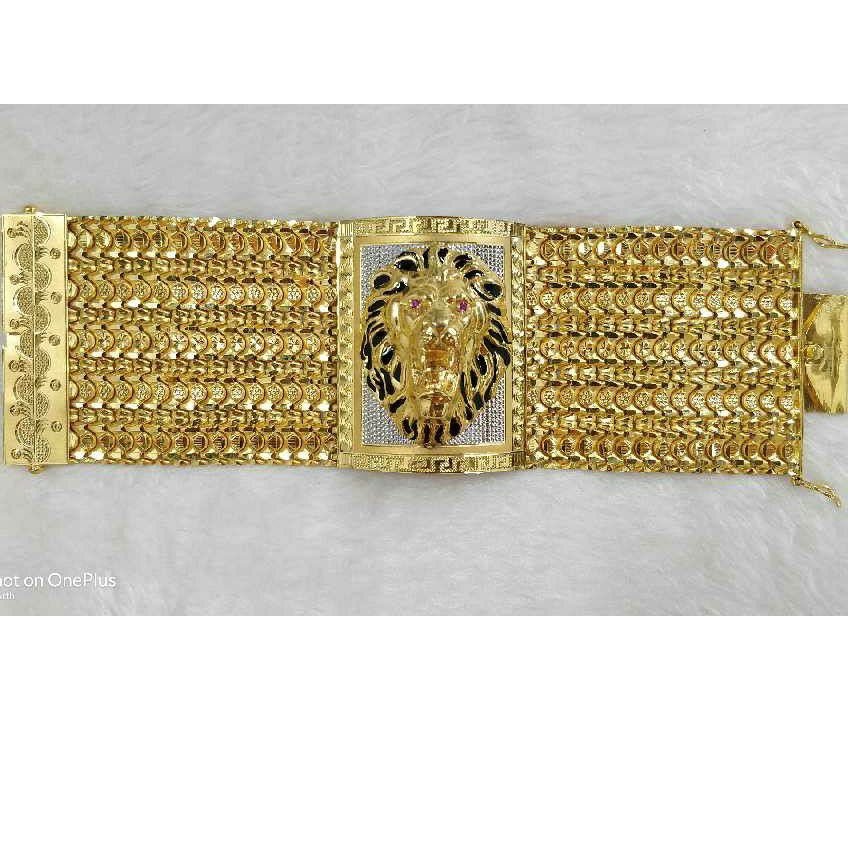 22KT Gold Antique Lions Bracelet