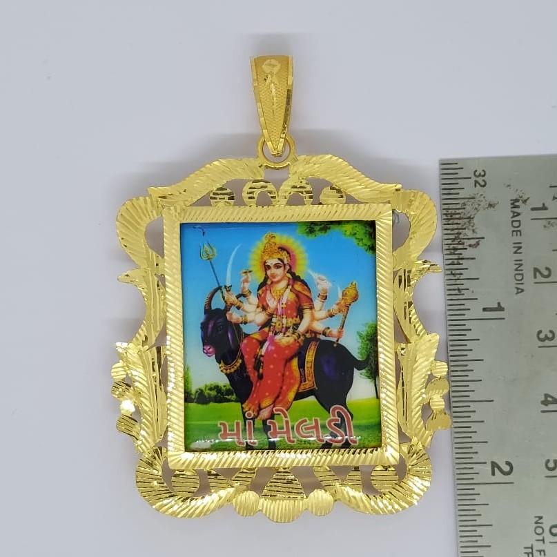 916 Gold Gent's Fancy Fram Pendant
