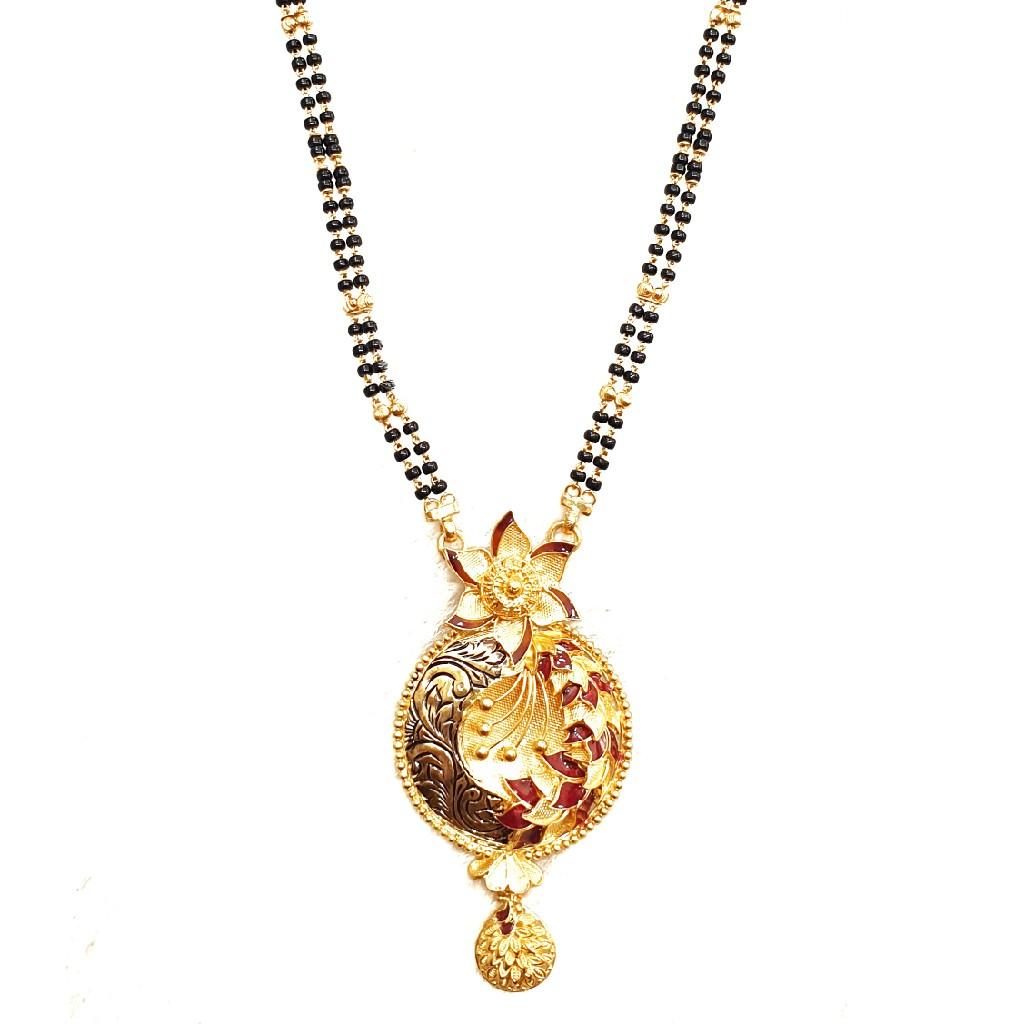 916 Gold Antique Modern Designer Mangalsutra MGA - GM044
