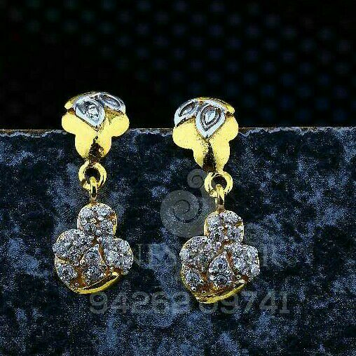 18kt Casual Were Cz Gold Ladies Tops ATG -0614