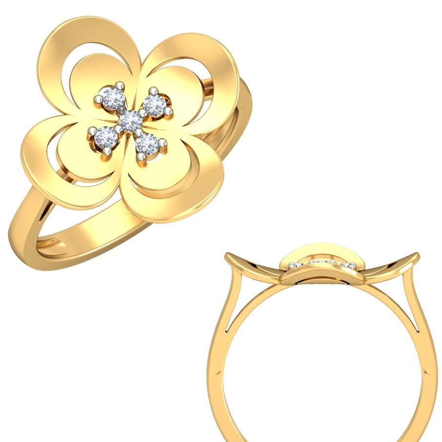22Kt Yellow Gold Felicityelle Ring For Women