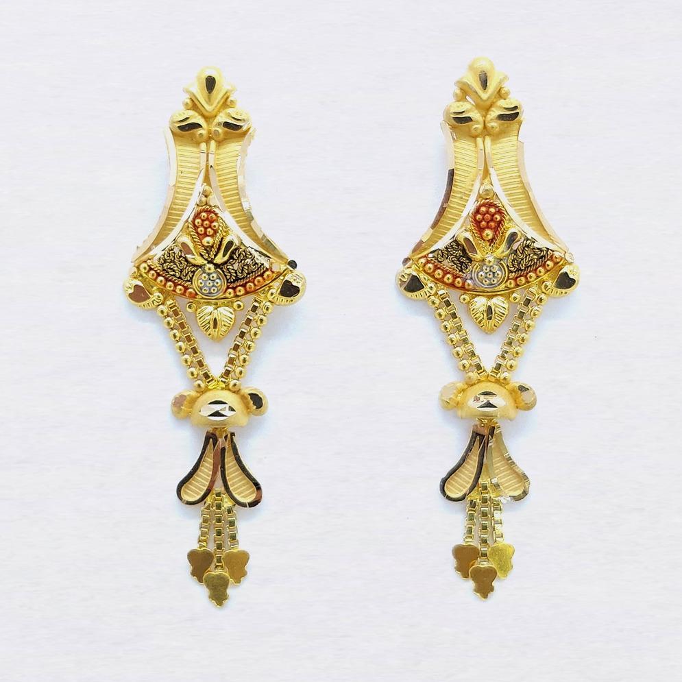 916 Gold Indian Latkan Earring For Ladies SK-E030