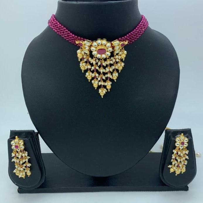 artificial wedding wear necklace set