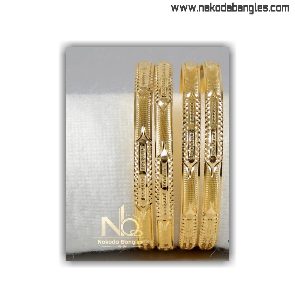 916 Gold Patra Bangles NB - 1402