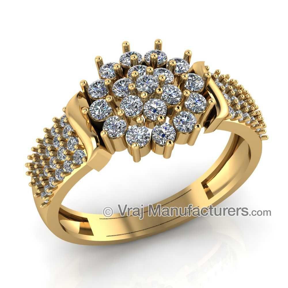 22KT Yellow Gold Diamond Bridal Ring