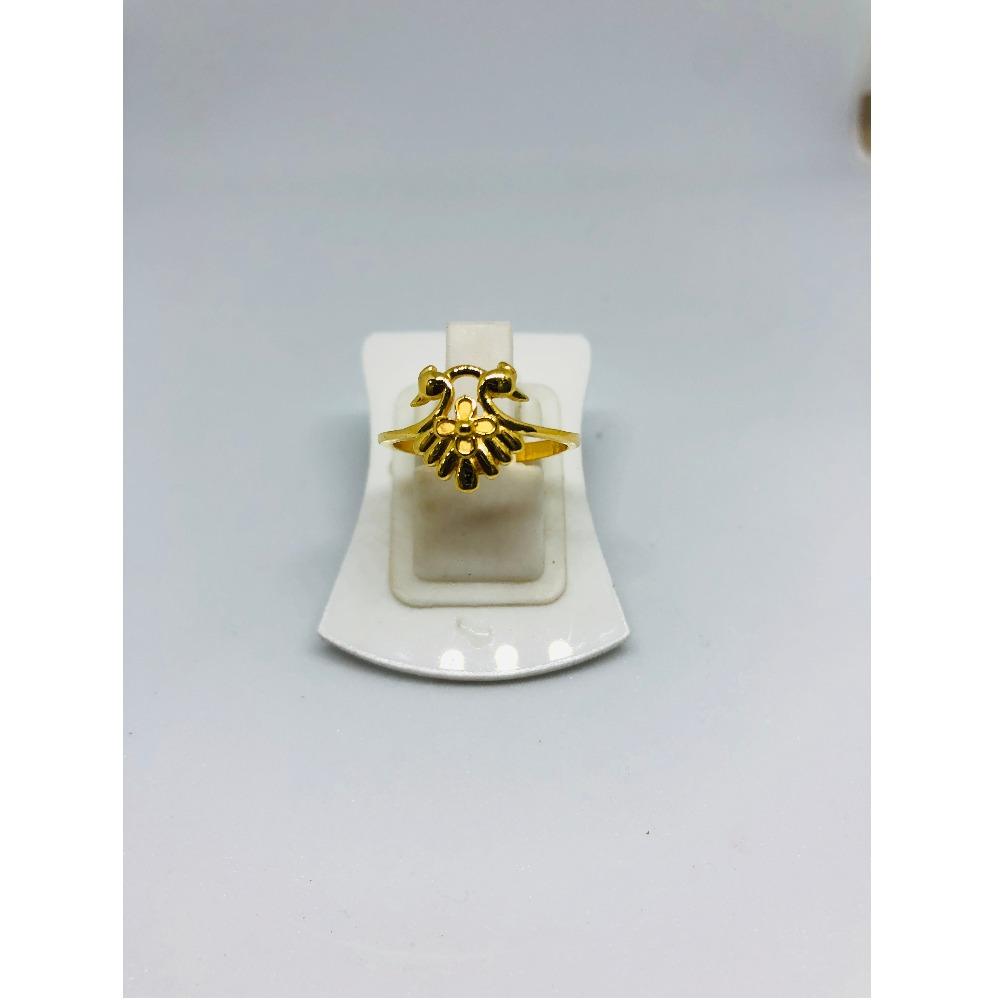 916 Gold Peacock Design Ring For Women KDJ-R015