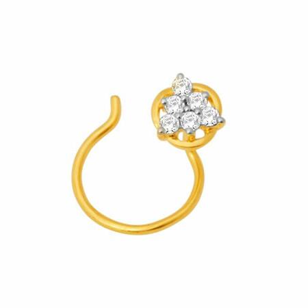 18K Gold Real Diamond Nosepin MGA - RN002