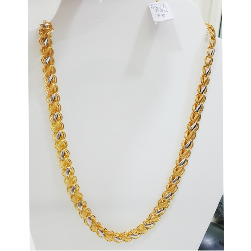 916 Gold Modern Indo Italian Chain