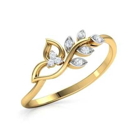 22KT Gold Attractive Flower Design Ladies Ring