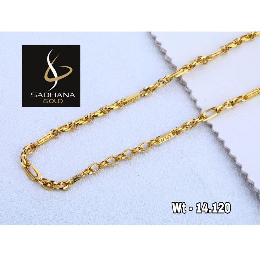 916 Gold Hallmark Chain For Men
