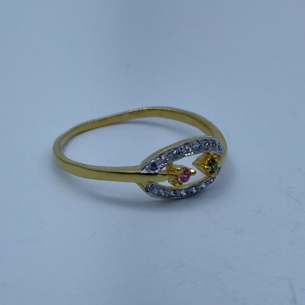 22k light weight gold plated ladies ring