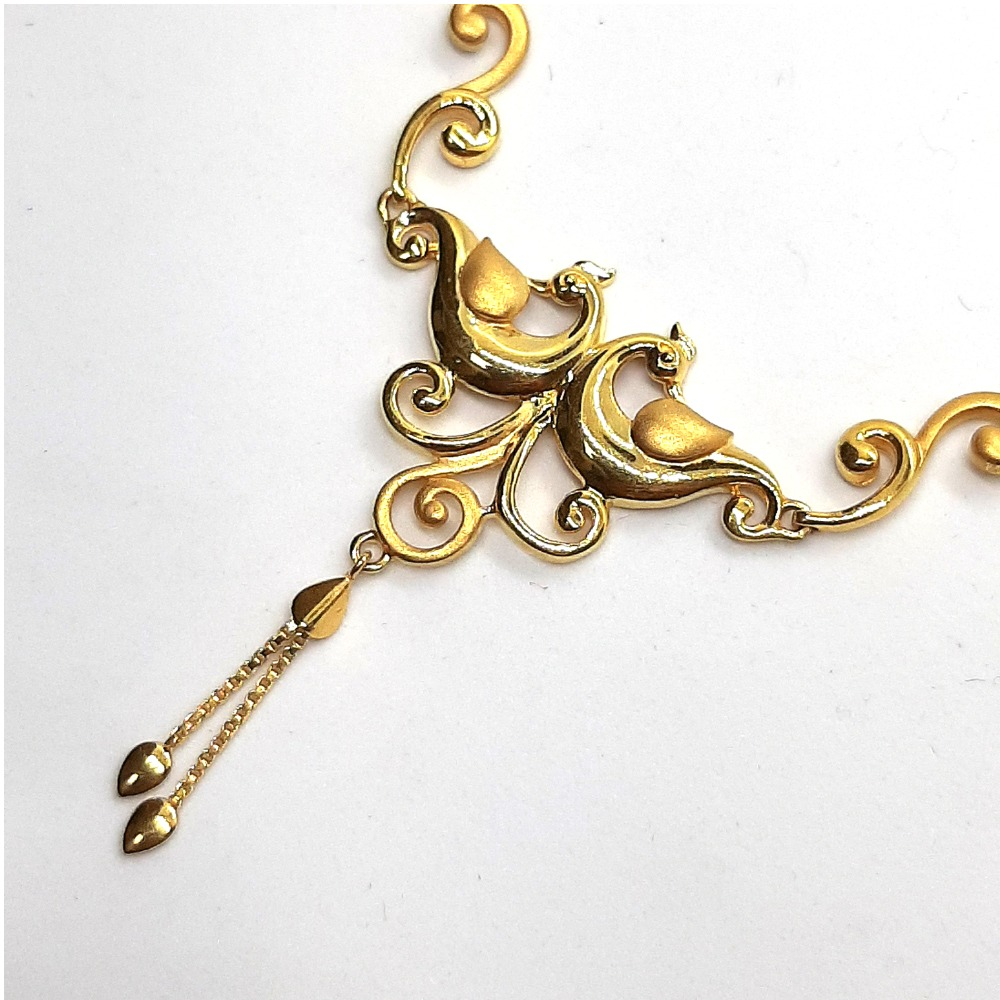 Plain Gold Necklace Set SK-N004