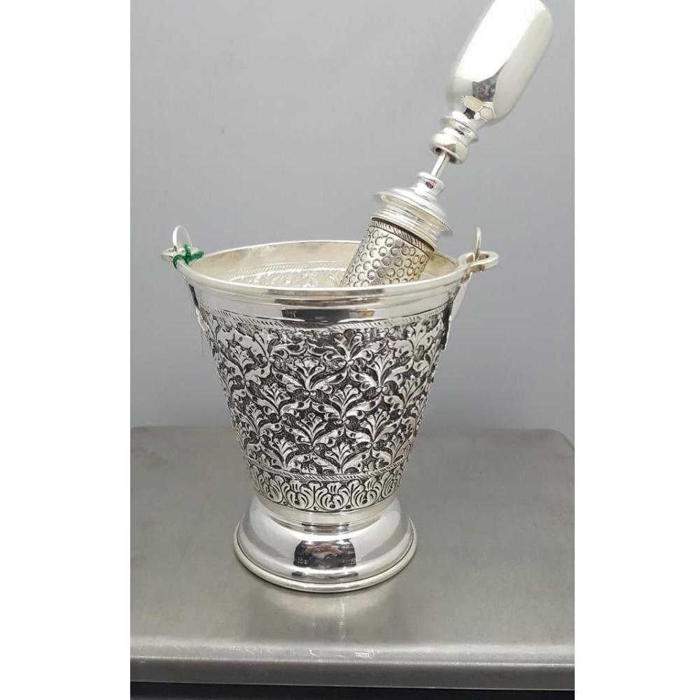 925 pure silver antique balti and pichkari set PO-309/307-04