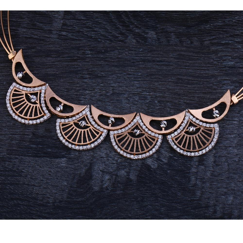 750 Hallmark  Rose Gold  Women's Necklace Set RN64