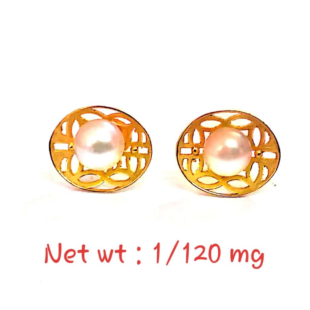 18kt gold Fancy Stud pearl eaaring