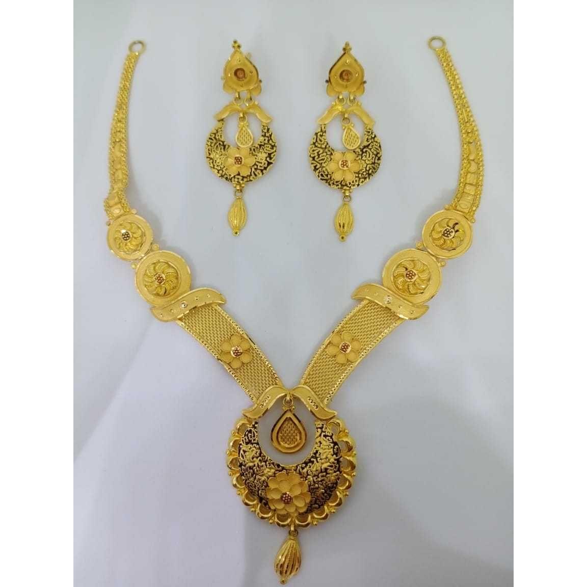 916 gold bridal choker set bj-n10