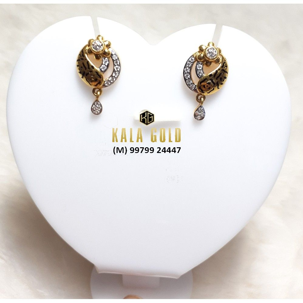 916 Oxidised Earring