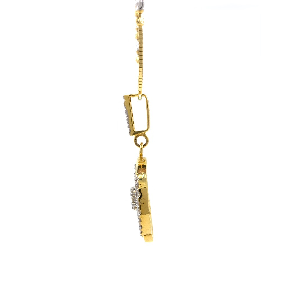 Circular diamond pendant in yellow gold 8shp7