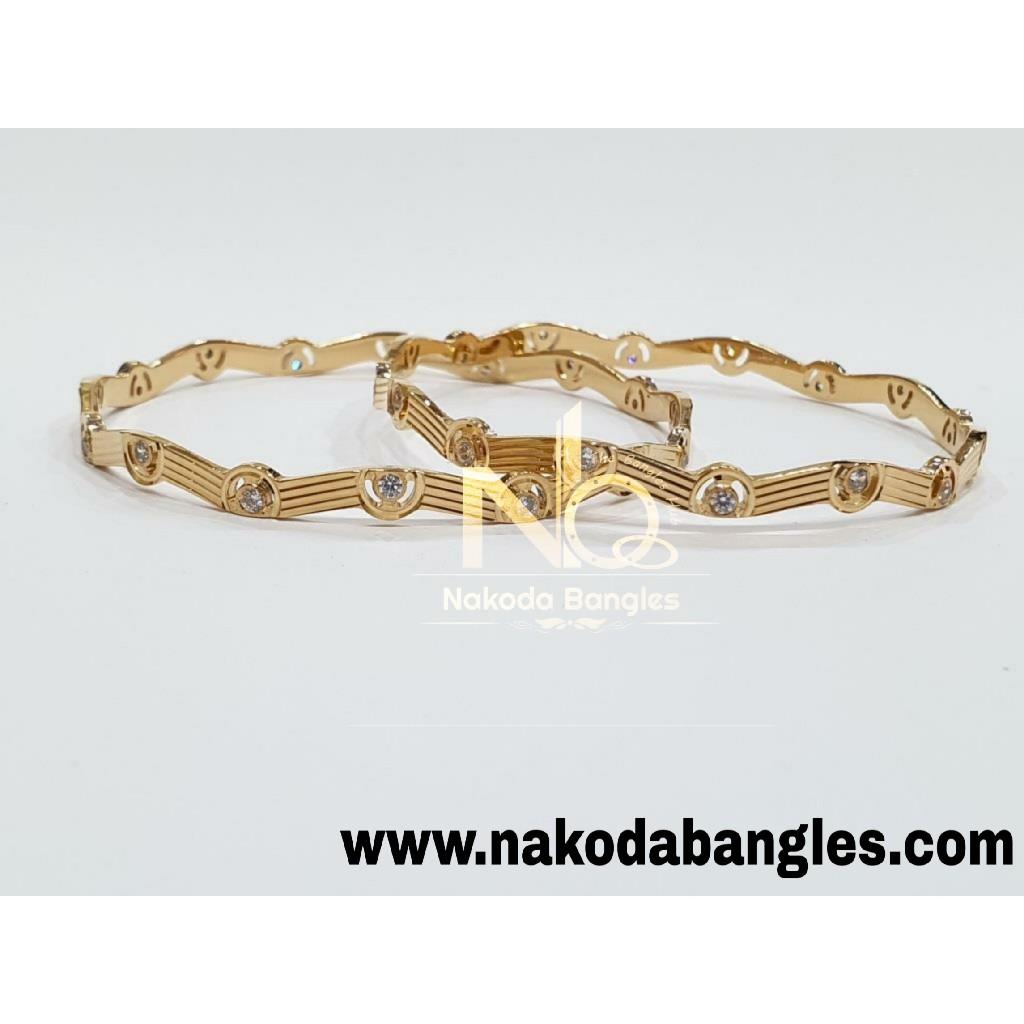 916 Gold CNC Bangles NB - 986
