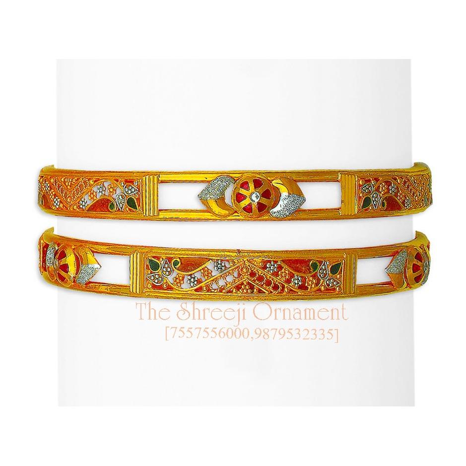 916 Gold Designer Double Pipe Copper Kadali - 0017