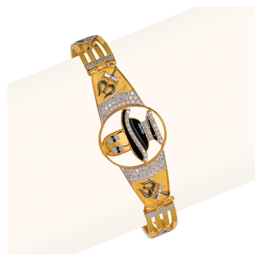 916 Gold Om Design Gents Bracelet RJA-011