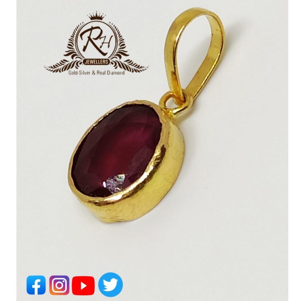 22 carat gold shuriya stone pendants RH-PN054